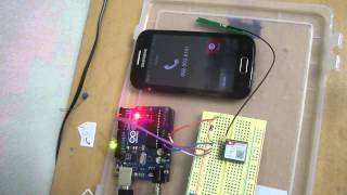 Controlling a LED on Arduino connected with GSM SIM800 Module by calling it from another telephone Video
