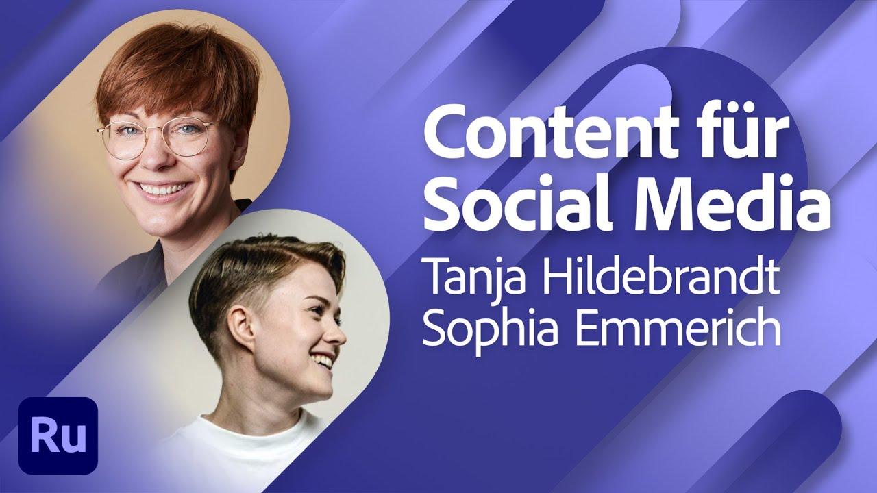 Grafiken und Bilder für Social Media - mit Tanja Hildebrandt  Adobe Live