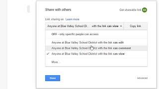 BV Google Drive إنشاء رابط يمكن مشاركته بين الطلاب والمعلمين