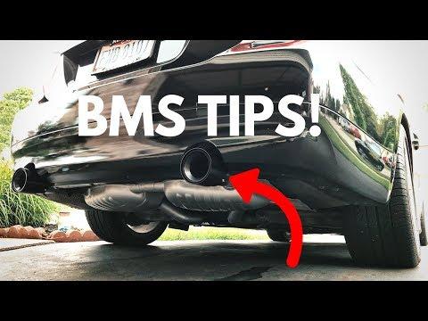 BMW 335i BMS Billet Black Exhaust Tips! DIY!