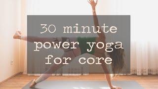 Video 30 Minute Power Yoga for Core download MP3, 3GP, MP4, WEBM, AVI, FLV Maret 2018
