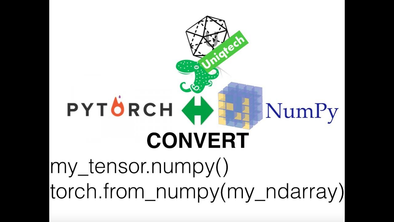 Pytorch convert torch tensor to numpy ndarray and numpy array to tensor