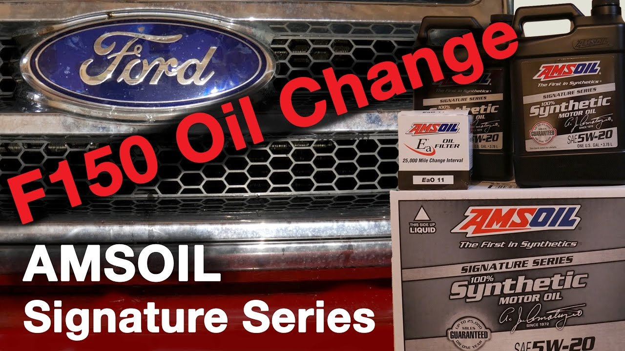 Ford F150 Oil Change Amsoil Signature Series 5w 20 Synthetic 2015 F 150 Filter Location Ea011