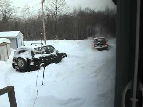 forrester vs rav4 all wheel drive plow through snow bank pt 1 youtube. Black Bedroom Furniture Sets. Home Design Ideas