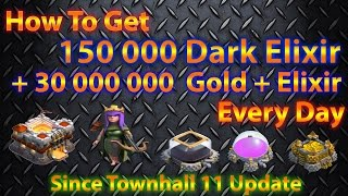 Clash Of Clans-Farming How to Raid 30k Dark elixir/hr GET LOOT FAST! Th7 Th8 Th9 TH10 Th11