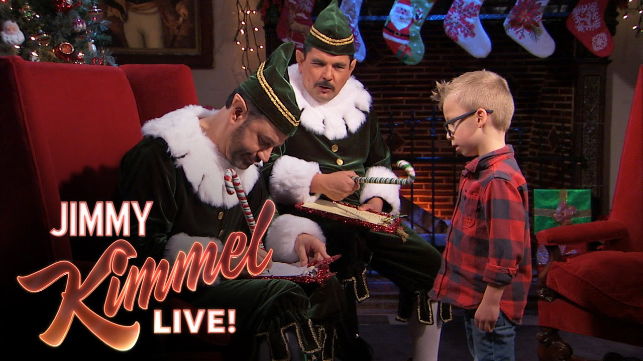 Jimmy Kimmel Christmas.Naughty Or Nice With Jimmy And Guillermo
