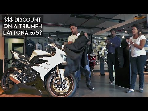 Discount of $$$ on a Superbike? | Triumph Daytona  Delivery | BS deal |  RWR
