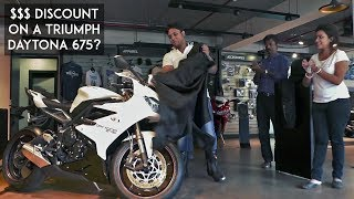 Discount of $$$ on a Superbike? | Triumph Daytona 675 Delivery | BS3 deal |  RWR