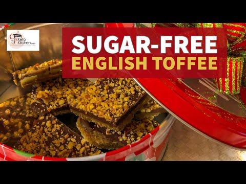 Sugar-free Low Carb English Toffee #sugar-free #keto #ketorecipe #lowcarb #weightloss