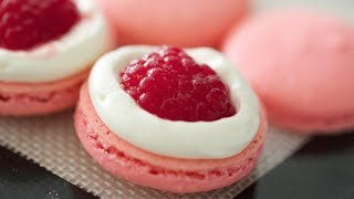 Rose Water Macarons