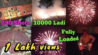 Diwali Celebration Fully Loaded with Crackers | 240 shots | 10000 ladi | Shubham Chaudhary vlogs