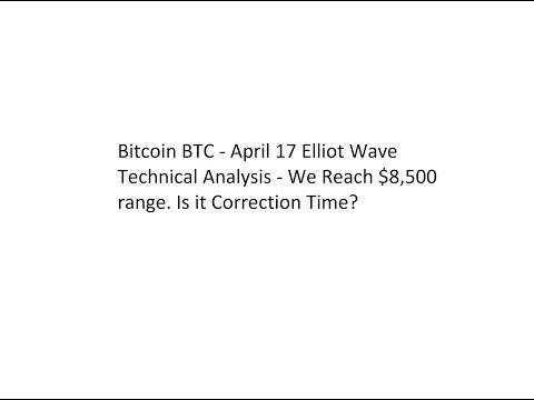 Bitcoin BTC - April 17 Elliot Wave Technical Analysis - Time To Test $7,500?