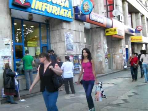Romania: Street of Bucharest ブカレストの街路