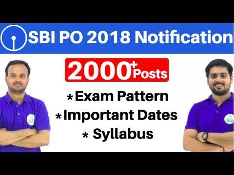 SBI PO 2018 Notification Out   Syllabus, Important Dates, Exam pattern   सम्पूर्ण जानकारी