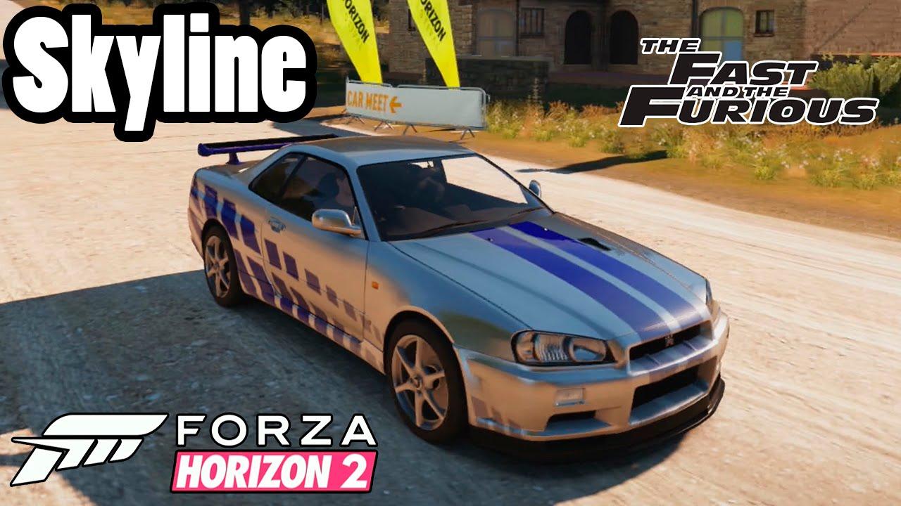 Forza Horizon 2 Skyline Do Paul Walker Velozes E