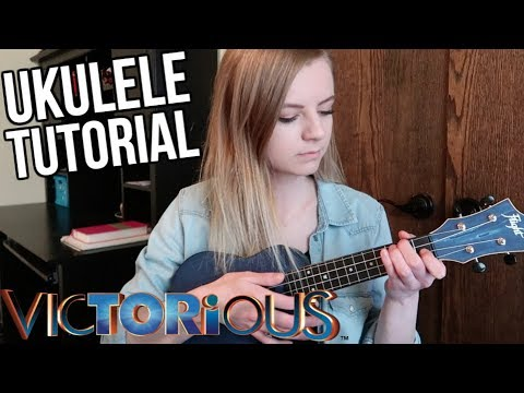 How to play the Victorious theme song on ukulele! Make It Shine tutorial