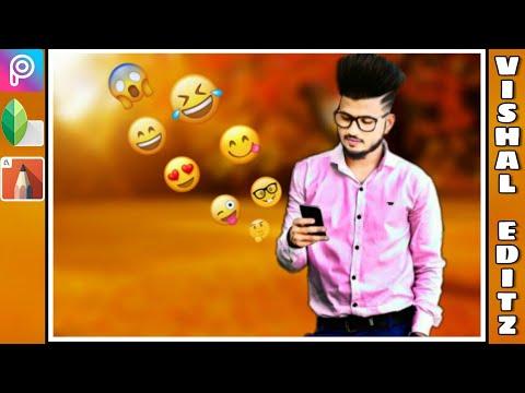 Social Media Emoji Manipulation in Picsart || Picsart Editing Tutorial ||Social Media Editing ||