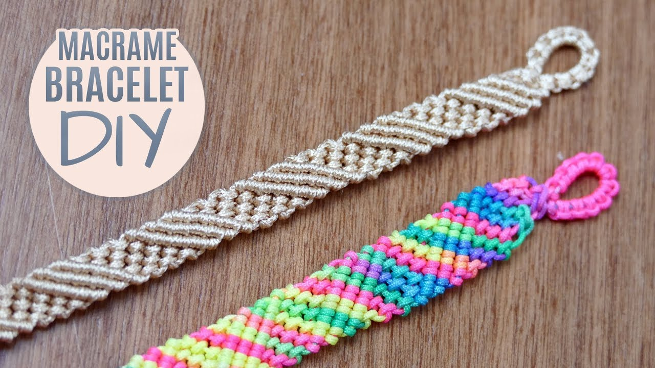 Diy Diagonal Striped Macram 233 Bracelet Easy Tutorial Youtube
