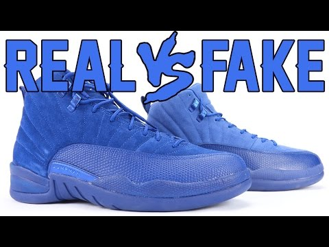 764f2fce55e67e Real vs Fake Air Jordan 12 Deep Royal Blue aka Blue Suede. Here is how you  can tell the differences between a Fake