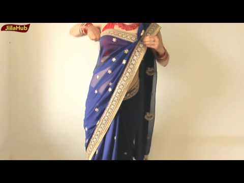 How To Wear Sari Perfectly In Simple Steps:2 Stylist Saree Draping Way(JiilaHub Very Easy)