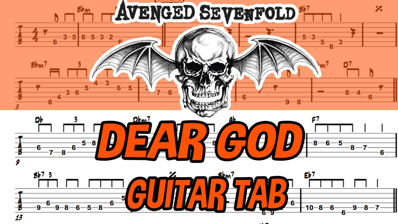 learn how to play dear god fingerstyle acoustic guitar lesson tabs avenged sevenfold youtube. Black Bedroom Furniture Sets. Home Design Ideas