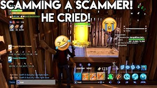 FORTNITE SQUEAKER SCAMMER GETS SCAMMED (BREAKS CONTROLLER!)