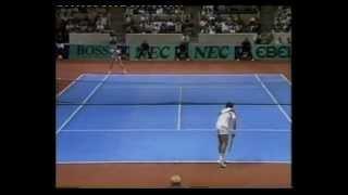 Boris Becker vs Tim Mayotte - 1987 Davis Cup (Last game)
