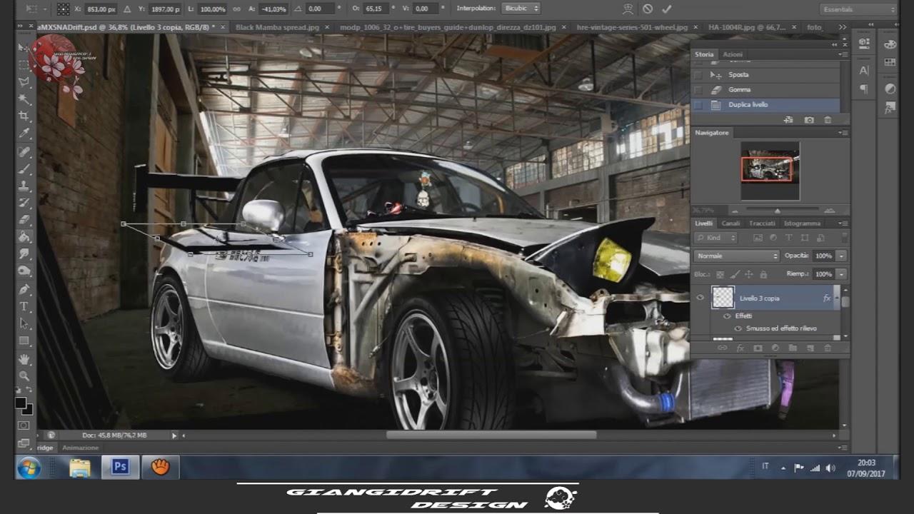 Mazda MX5 NA My Harumi Virtual Tuning Photoshop