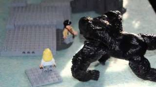 King Kong stopmotion lego