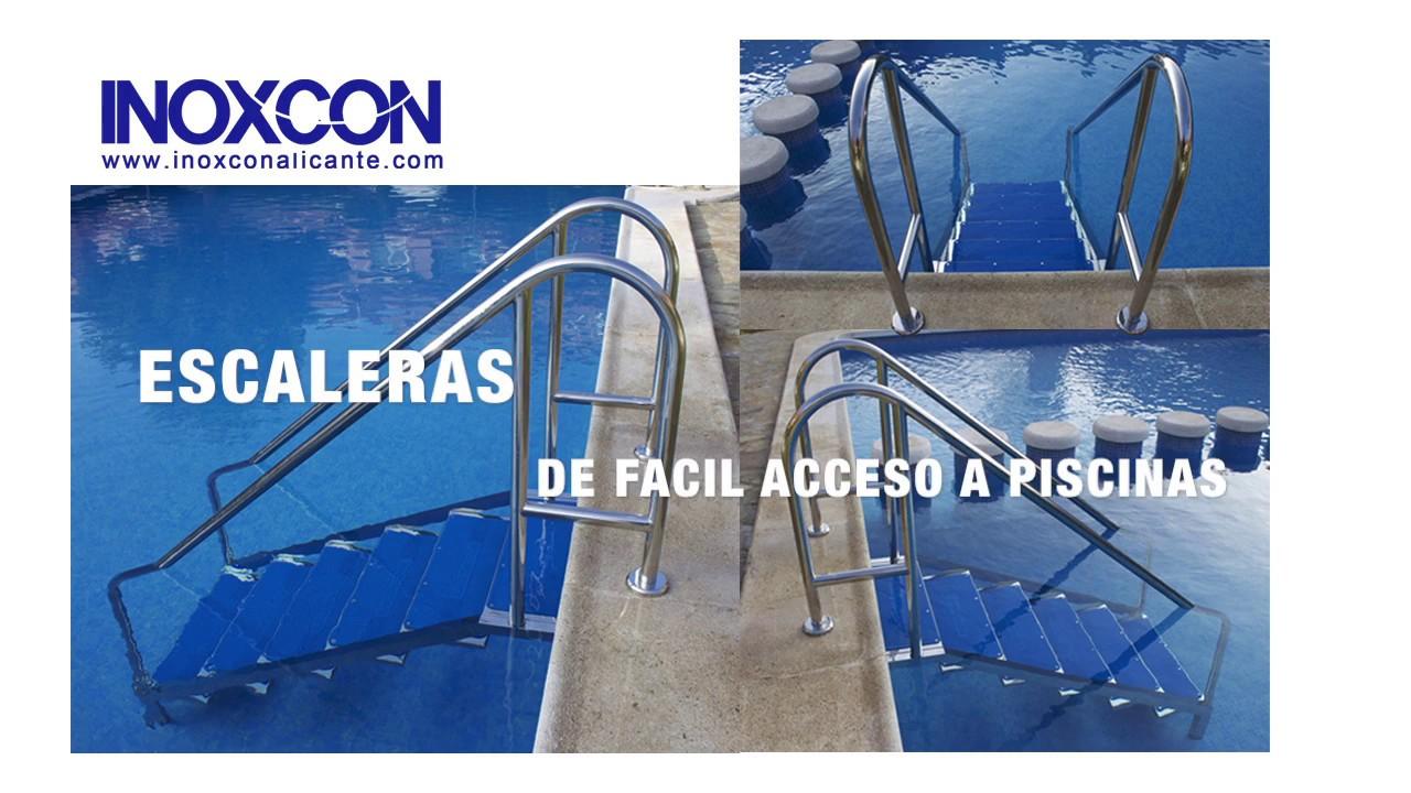 Gu a de instalaci n de una escalera de f cil acceso a for Escaleras para piscinas desmontables carrefour