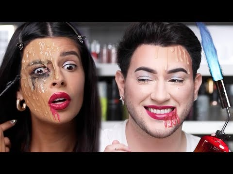 WE MELTED A FULL FACE OF MAKEUP FEAT. MANNY MUA thumbnail