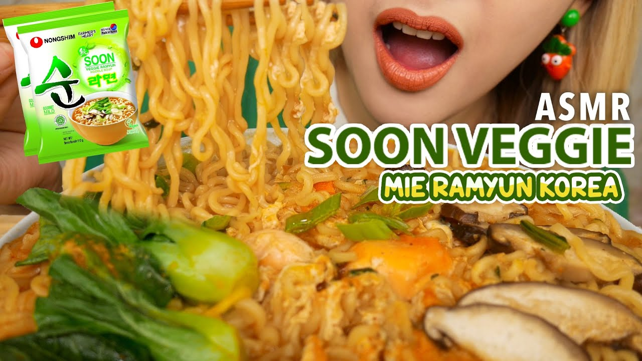 ASMR MIE RAMYUN SEHAT KOREA NO MICIN❌ SOON VEGGIE | ASMR Indonesia