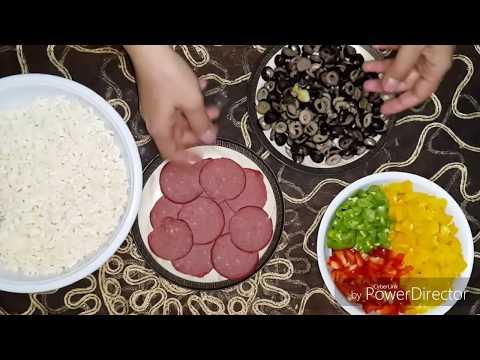 صورة  طريقة عمل البيتزا الحلقة 14 : طريقة عمل البيتزا أفضل من pizza hut و تحدي 🍕🍕  !!! طريقة عمل البيتزا بالفراخ من يوتيوب