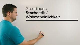 Stochastik Grundlagen, Wahrscheinlichkeit, Nachhilfe online | Mathe by Daniel Jung