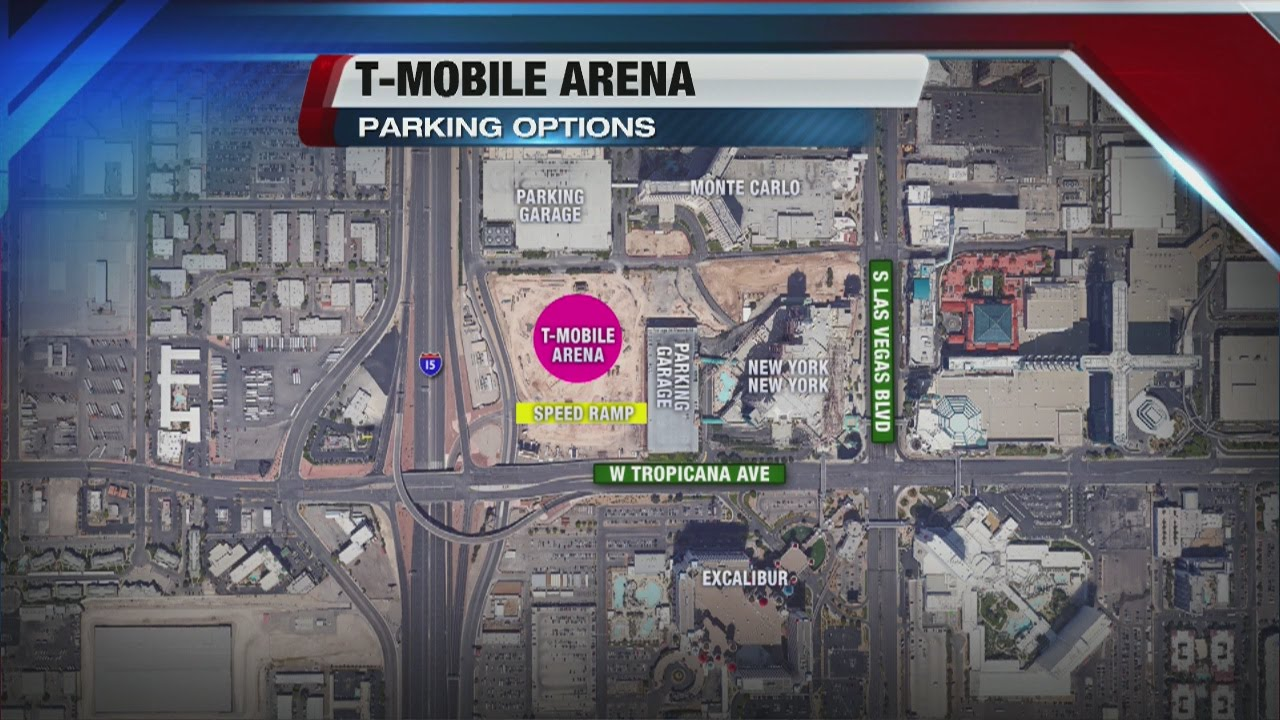 Parking Options At T Mobile Arena Youtube
