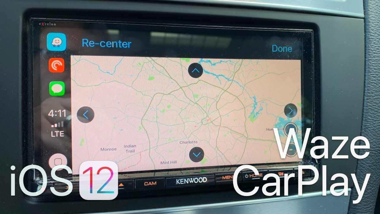 iOS 12 - Waze on Apple CarPlay