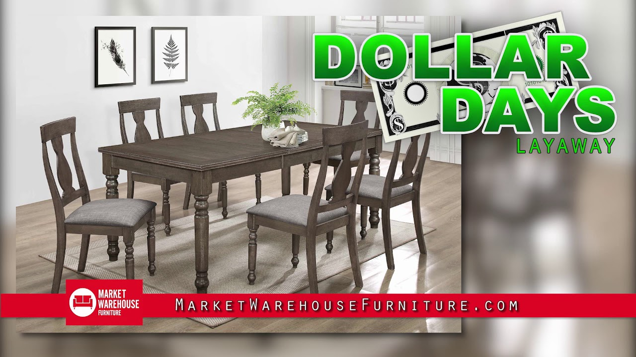 Market Warehouse Furniture Dollar Days Are Here Youtube