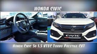 HONDA CIVIC HATCHBACK PRESTIGE 1.5 2019 EXTERIOR AND INTERIOR WALKAROUND SHOWN AT PLOVDIV AUTOCITY