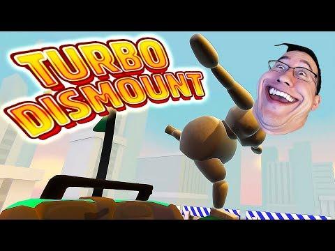BROKE MY FUNNY BONE | Turbo Dismount Funny Moments #19