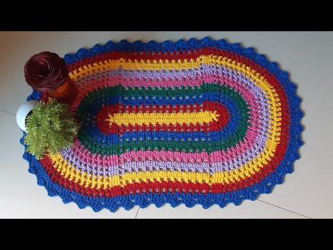 Como fazer tapete de CROCHÊ com #sobras #fácil #rapido #econômico #diy #trecosetarecoscrochet