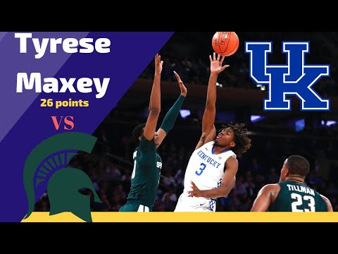 tyrese-maxey-kentucky-wildcats-is-clutch-vs-michigan-state!!!-|-26-pts-5-rebs-2-ast
