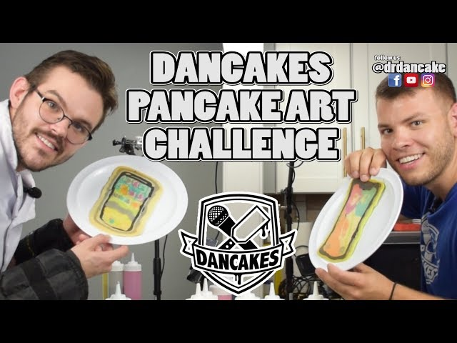PANCAKE ART CHALLENGE, DANCAKES EDITION! Episode 1: iPhone X, The Galaxy