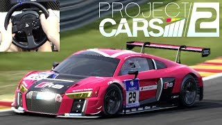 Audi R8 LMS com Volante Thrustmaster T300 - Jogo Project Cars 2 Gameplay