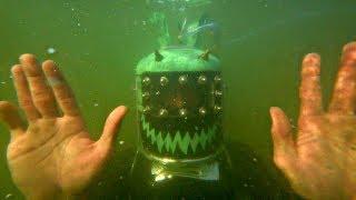 ✅Шлем-Батискаф из аквариума и плёнки😃 АкваМэн из фреонового баллона своими руками