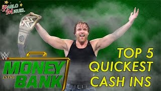Top 5 | Quickest Money In The Bank Cash Ins