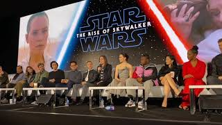 Star Wars The Rise of Skywalker Press Conference