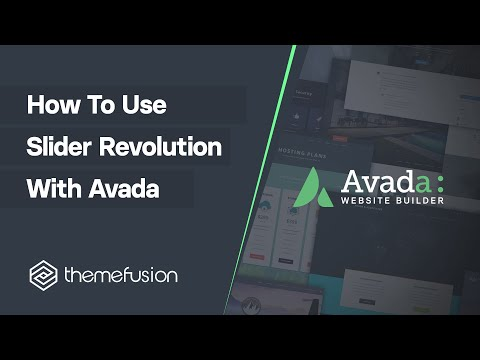 How To Use Slider Revolution With Avada Video