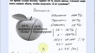 Урок 16. Пропорции. Проценты. Математика 6, 9 класс.