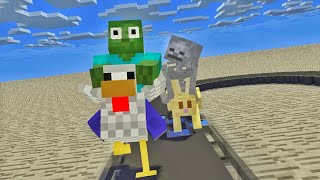 Monster School : LOL ANIMAL RACING - Minecraft Animation