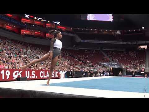 Simone Biles – Floor Exercise – 2019 GK U.S. Classic – Senior Competition